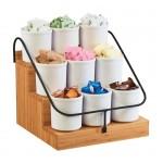 Bamboo Condiment Station