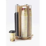 Bamboo Revolving Cup/Lid Organizer