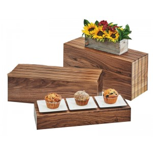 Rectangle Walnut Risers