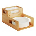 Madera Plate and Napkin Holder