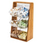Bamboo Removable Compartment Condiment Holder