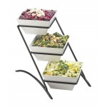 Melamine 3 Tier Square Bowl Display