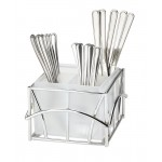 Chrome Frosted Flatware Display