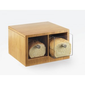 Bamboo 2 Drawer Bread Case
