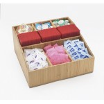 Bamboo 9 Section Condiment Organizer