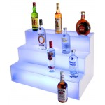 Frost Lit Step Bottle Display