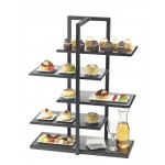 One by One Multi-Level Shelf Display