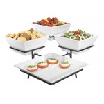 Melamine Platter and Square Bowl Display