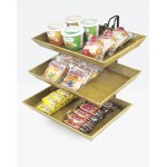 3 Tier Bamboo Tray Wire Merchandiser
